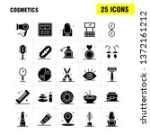 cosmetics solid glyph icons set ...
