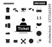 amusement solid glyph icon for...