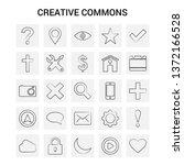 25 hand drawn creative commons...   Shutterstock .eps vector #1372166528