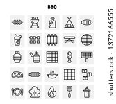 bbq line icon pack for...