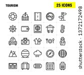 tourism line icon pack for...