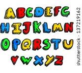 cartoon alphabet | Shutterstock . vector #137219162