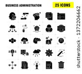 business administration solid... | Shutterstock .eps vector #1372206662