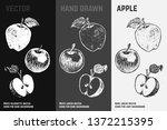 Hand Drawn Apple Icons Set...