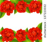 valentine s day card with red... | Shutterstock .eps vector #137223332
