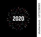 happy new 2020 year. holiday... | Shutterstock .eps vector #1372238585