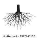 shape of black tree roots.... | Shutterstock .eps vector #1372240112