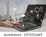developing programming and... | Shutterstock . vector #1372251665