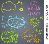 hand draw sale element. vector... | Shutterstock .eps vector #137225705