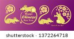 happy chinese new year 2020... | Shutterstock .eps vector #1372264718