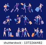 different people travel on... | Shutterstock .eps vector #1372266482