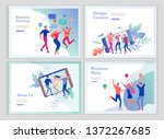 landing page templates set with ... | Shutterstock .eps vector #1372267685
