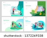 landing page template people... | Shutterstock .eps vector #1372269338