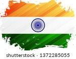 flag of india brush stroke... | Shutterstock .eps vector #1372285055
