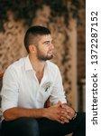 beautiful young man    Shutterstock . vector #1372287152