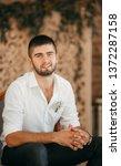 beautiful young man    Shutterstock . vector #1372287158
