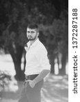 beautiful young man    Shutterstock . vector #1372287188