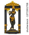 vector design of vintage statue ... | Shutterstock .eps vector #1372301708