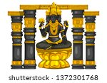 vector design of vintage statue ... | Shutterstock .eps vector #1372301768