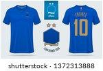 set of soccer jersey or... | Shutterstock .eps vector #1372313888