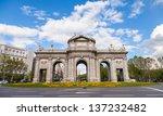 """puerta de alcala"" is a... | Shutterstock . vector #137232482"