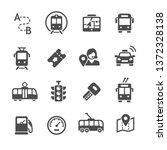 public transport icon set | Shutterstock .eps vector #1372328138