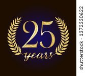 25 th years old anniversary... | Shutterstock .eps vector #1372330622