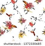flower  leaf pattern  | Shutterstock . vector #1372330685