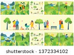 vector nature eco backgrounds... | Shutterstock .eps vector #1372334102