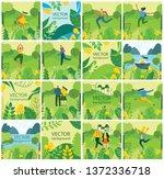 vector nature eco backgrounds... | Shutterstock .eps vector #1372336718
