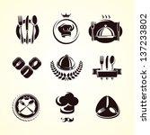 restaurant labels set. vector | Shutterstock .eps vector #137233802