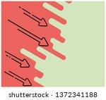 drop chart. flat illustration.... | Shutterstock .eps vector #1372341188