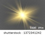 glow light effect. star burst... | Shutterstock .eps vector #1372341242