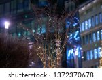 bush branches entwined with... | Shutterstock . vector #1372370678