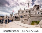 rome  italy   april 3  2019 ... | Shutterstock . vector #1372377068