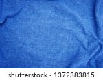 linen fabric denim blue... | Shutterstock . vector #1372383815