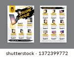 2 sides flyer template for sale ...   Shutterstock .eps vector #1372399772