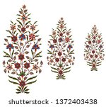 mughal flower motif bunch | Shutterstock . vector #1372403438