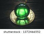 crystal magic ball and zodiac...   Shutterstock . vector #1372466552