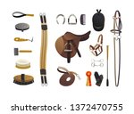 equestrian grooming tools and... | Shutterstock .eps vector #1372470755