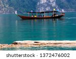 traditional wood boat transport ... | Shutterstock . vector #1372476002