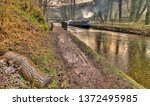 canal barge winter | Shutterstock . vector #1372495985