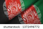 Afghanistan Two Flags Textile...