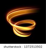 glowing shiny spiral lines...   Shutterstock .eps vector #1372513502
