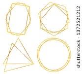 geometric polygonal frames  ...   Shutterstock .eps vector #1372521212