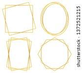 geometric polygonal frames  ... | Shutterstock .eps vector #1372521215