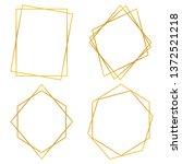 geometric polygonal frames  ...   Shutterstock .eps vector #1372521218