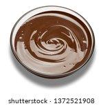 glass bowl of chocolate cream...   Shutterstock . vector #1372521908