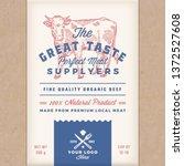 great taste perfect beef.... | Shutterstock .eps vector #1372527608