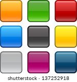 set of blank colorful square... | Shutterstock .eps vector #137252918